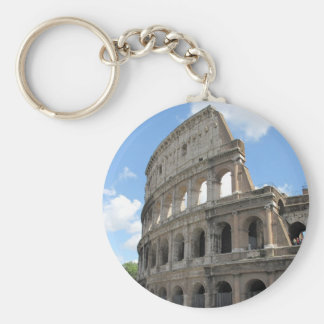 The Roman Colosseum Basic Round Button Key Ring