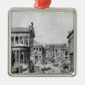 The Roman Forum of Antiquity, 1914 Christmas Ornament