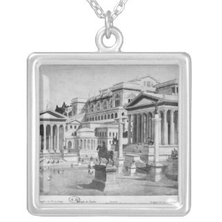 The Roman Forum of Antiquity Silver Plated Necklace