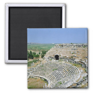 The Roman theatre, 1st-2nd centuries AD Square Magnet