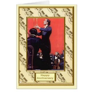 The romance of music, Meet the conductor Greeting Card