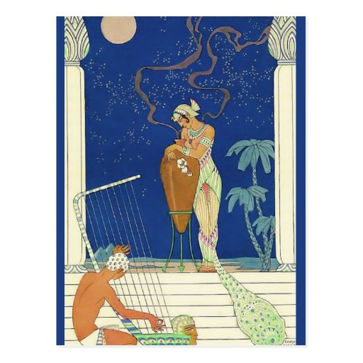 The Romance of Perfume Egypt by George Barbier Post Card