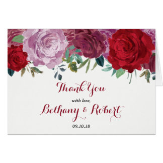 The Romantic Floral Wedding Collection Card