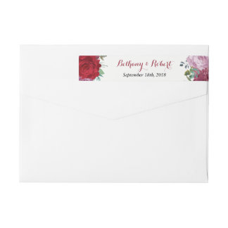 The Romantic Floral Wedding Collection Wrap Around Label