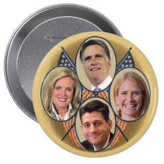 The Romney Ryan Team 10 Cm Round Badge