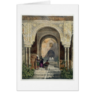 The Room of the Two Sisters in the Alhambra, Grana Card