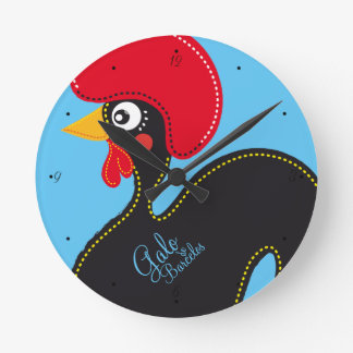 the Rooster of Portugal Round Clock
