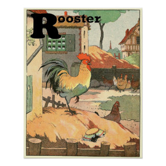 The Rooster Storybook Alphabet Poster