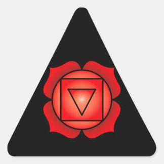 The Root Chakra Triangle Sticker