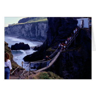 The rope bridge, Carrick-A-Rede, Ireland Europe Greeting Cards