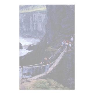 The rope bridge, Carrick-A-Rede, Ireland Europe Customised Stationery