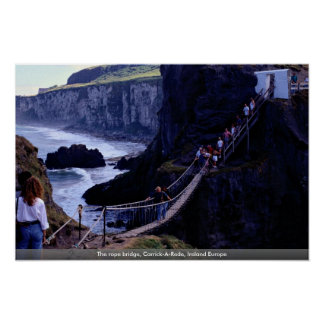The rope bridge, Carrick-A-Rede, Ireland Europe Posters