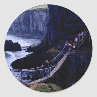 The rope bridge, Carrick-A-Rede, Ireland Europe Sticker