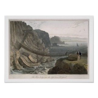 The Rope Bridge near the Lighthouse, Holyhead, fro Poster