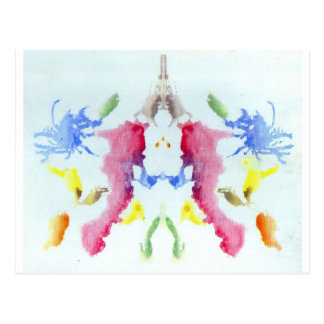 The Rorschach Test Ink Blots Plate 10 Crab Lobster Postcard