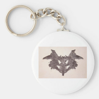 The Rorschach Test Ink Blots Plate 1 Bat, Moth Basic Round Button Key Ring