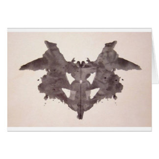 The Rorschach Test Ink Blots Plate 1 Bat, Moth Card