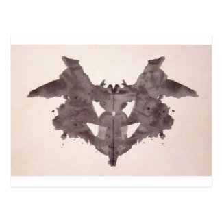 The Rorschach Test Ink Blots Plate 1 Bat, Moth Postcard