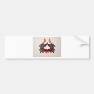 The Rorschach Test Ink Blots Plate 2 Two Humans Bumper Stickers
