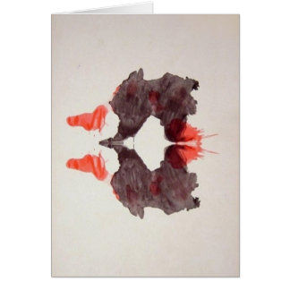 The Rorschach Test Ink Blots Plate 2 Two Humans Card