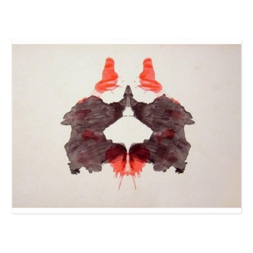 The Rorschach Test Ink Blots Plate 2 Two Humans Postcards