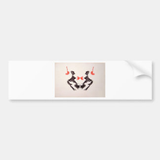 The Rorschach Test Ink Blots Plate 3 Two Humans Bumper Stickers