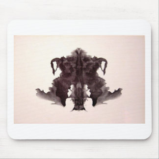The Rorschach Test Ink Blots Plate 4 Animal Skin Mouse Pad