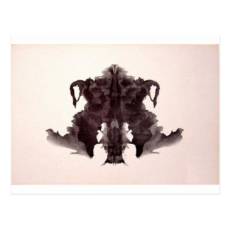The Rorschach Test Ink Blots Plate 4 Animal Skin Postcard