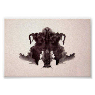 The Rorschach Test Ink Blots Plate 4 Poster