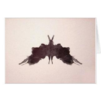 The Rorschach Test Ink Blots Plate 5 Bat Moth Card
