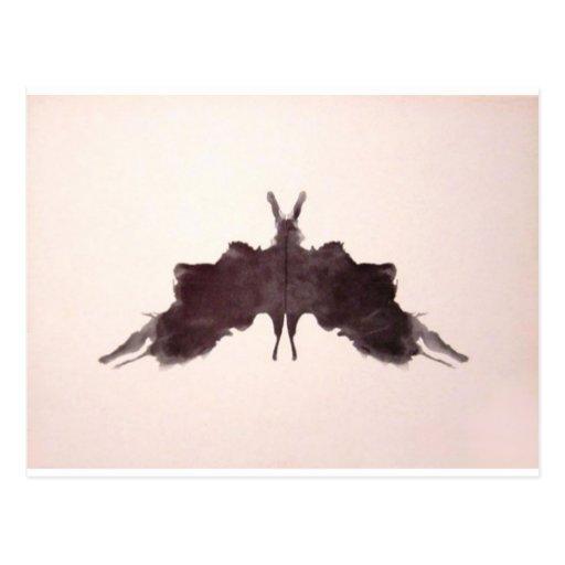 The Rorschach Test Ink Blots Plate 5 Bat Moth Postcards