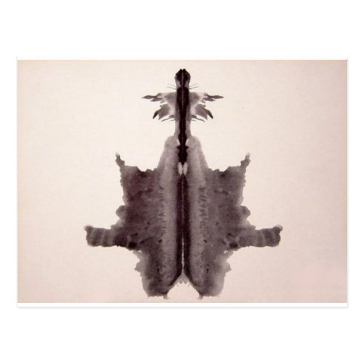 The Rorschach Test Ink Blots Plate 6 Hide Skin Rug