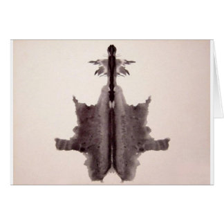 The Rorschach Test Ink Blots Plate 6 Hide Skin Rug Greeting Card