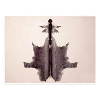 The Rorschach Test Ink Blots Plate 6 Hide Skin Rug Postcard