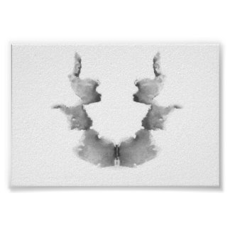 The Rorschach Test Ink Blots Plate 7 Poster