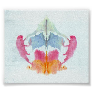 The Rorschach Test Ink Blots Plate 8 Poster