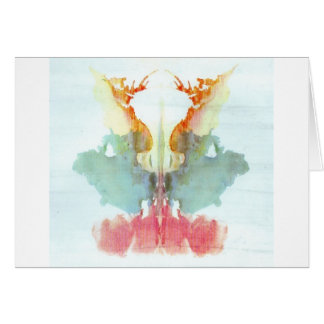 The Rorschach Test Ink Blots Plate 9 Human Greeting Card