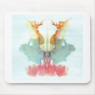 The Rorschach Test Ink Blots Plate 9 Human Mouse Pad