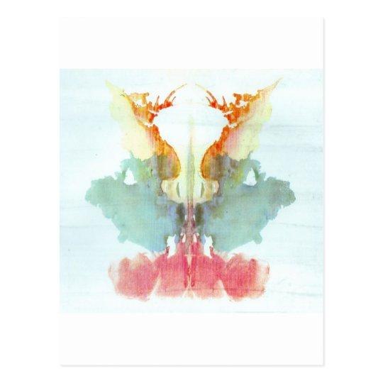 The Rorschach Test Ink Blots Plate 9 Human Postcard