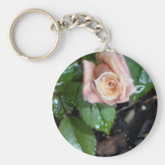 The Rose Basic Round Button Key Ring