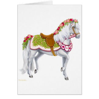 The Rose Horse Card