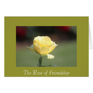 The Rose of Friendship Greeting Card