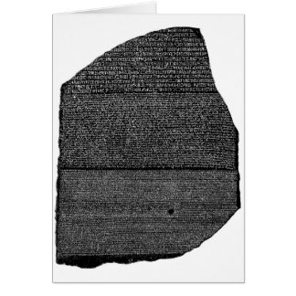 The Rosetta Stone Egyptian Granodiorite Stele Card