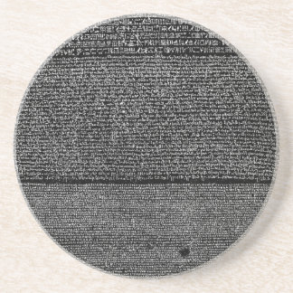 The Rosetta Stone Egyptian Granodiorite Stele Coaster