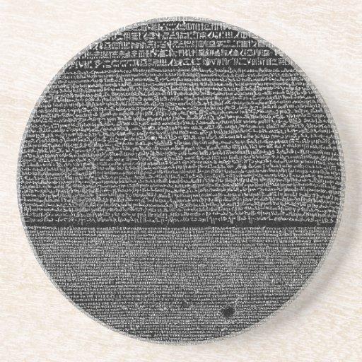 The Rosetta Stone Egyptian Granodiorite Stele Coaster