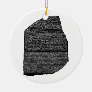 The Rosetta Stone Egyptian Granodiorite Stele Round Ceramic Decoration