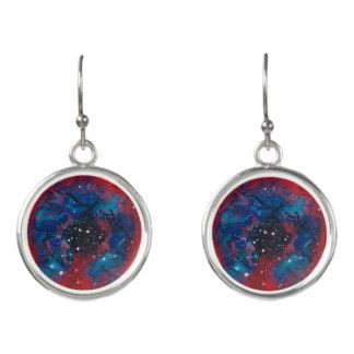 The Rosette Nebula drop earrings