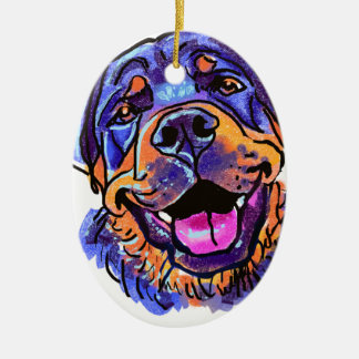 The Rottweiler Love of My Life Ceramic Oval Decoration