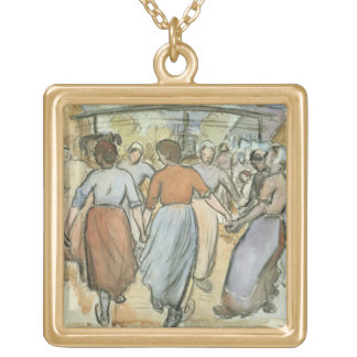 The Round, c.1884 (w/c on paper) Gold Plated Necklace