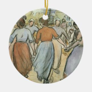 The Round, c.1884 (w/c on paper) Round Ceramic Decoration